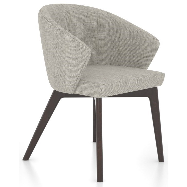 Downtown - Custom Dining Customizable Dining Chair by Canadel at Saugerties Furniture Mart