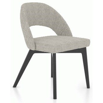 Downtown - Custom Dining Customizable Dining Side Chair by Canadel at Saugerties Furniture Mart