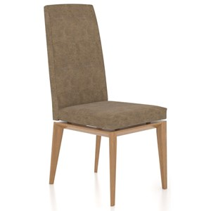 Contemporary Customizable Side Chair with Tall Back