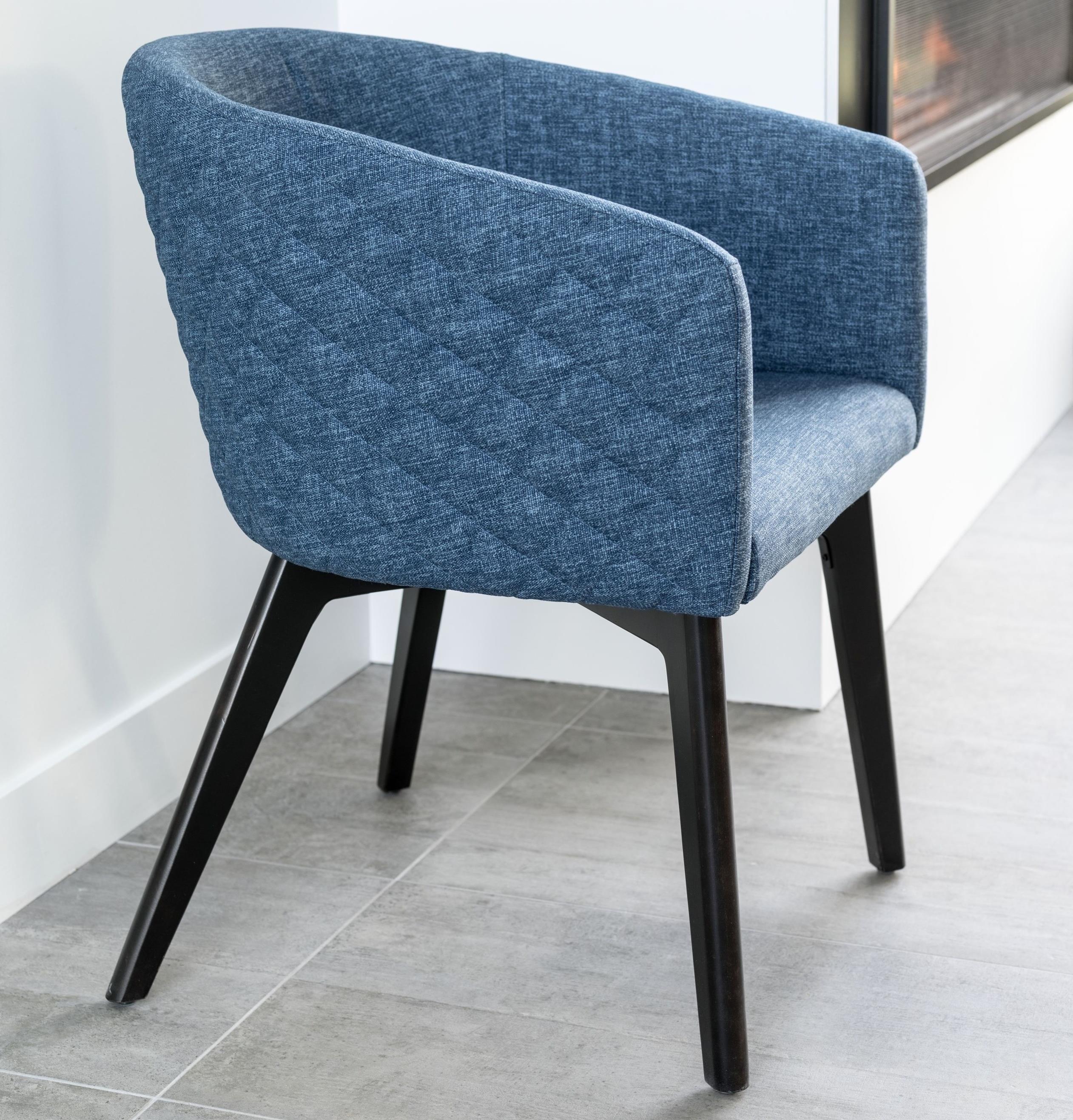 Downtown - Custom Dining Customizable Quilted Dining Chair by Canadel at Saugerties Furniture Mart