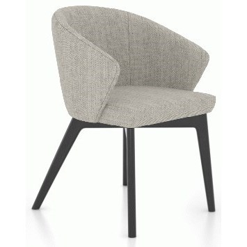 Downtown - Custom Dining Customizable Dining Arm Chair by Canadel at Saugerties Furniture Mart