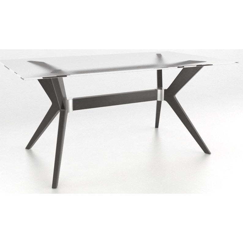 Downtown - Custom Dining Customizable Glass Top Dining Table by Canadel at Saugerties Furniture Mart