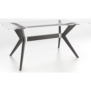 Customizable Contemporary Glass Top Dining Table