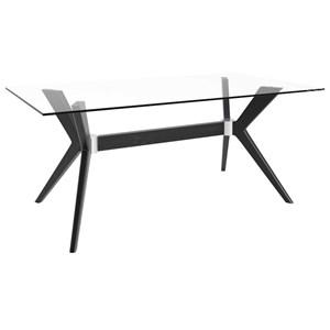 Customizable Rectangular Table w/ Glass Top