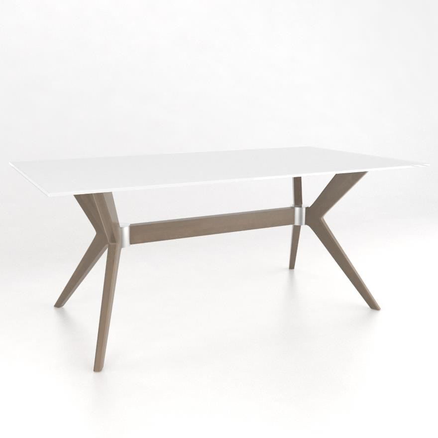 Downtown - Custom Dining Customizable Rectangular Table w/ Glass Top by Canadel at Jordan's Home Furnishings