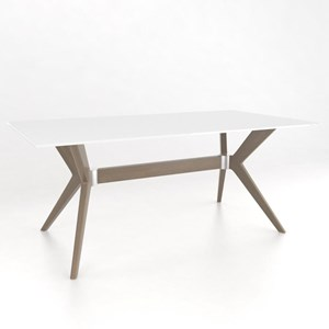 Contemporary Customizable Rectangular Table with Glass Top