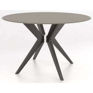 Contemporary Customizable Round Glass Top Table