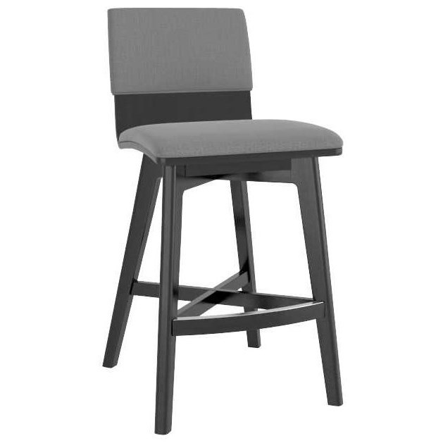 Downtown - Custom Dining Customizable Upholstered Fixed Stool by Canadel at Williams & Kay