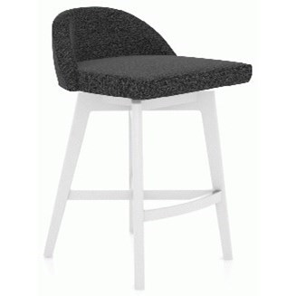 """Downtown - Custom Dining Customizable 25"""" Swivel Stool by Canadel at Saugerties Furniture Mart"""