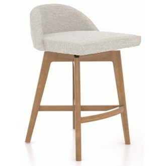 "Downtown - Custom Dining Customizable 25"" Swivel Stool by Canadel at Jordan's Home Furnishings"