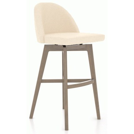 Downtown - Custom Dining Customizable Upholstered Swivel Stool by Canadel at Saugerties Furniture Mart