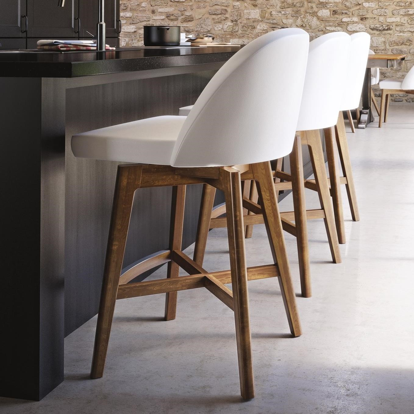 Downtown - Custom Dining Customizable Stool by Canadel at Saugerties Furniture Mart