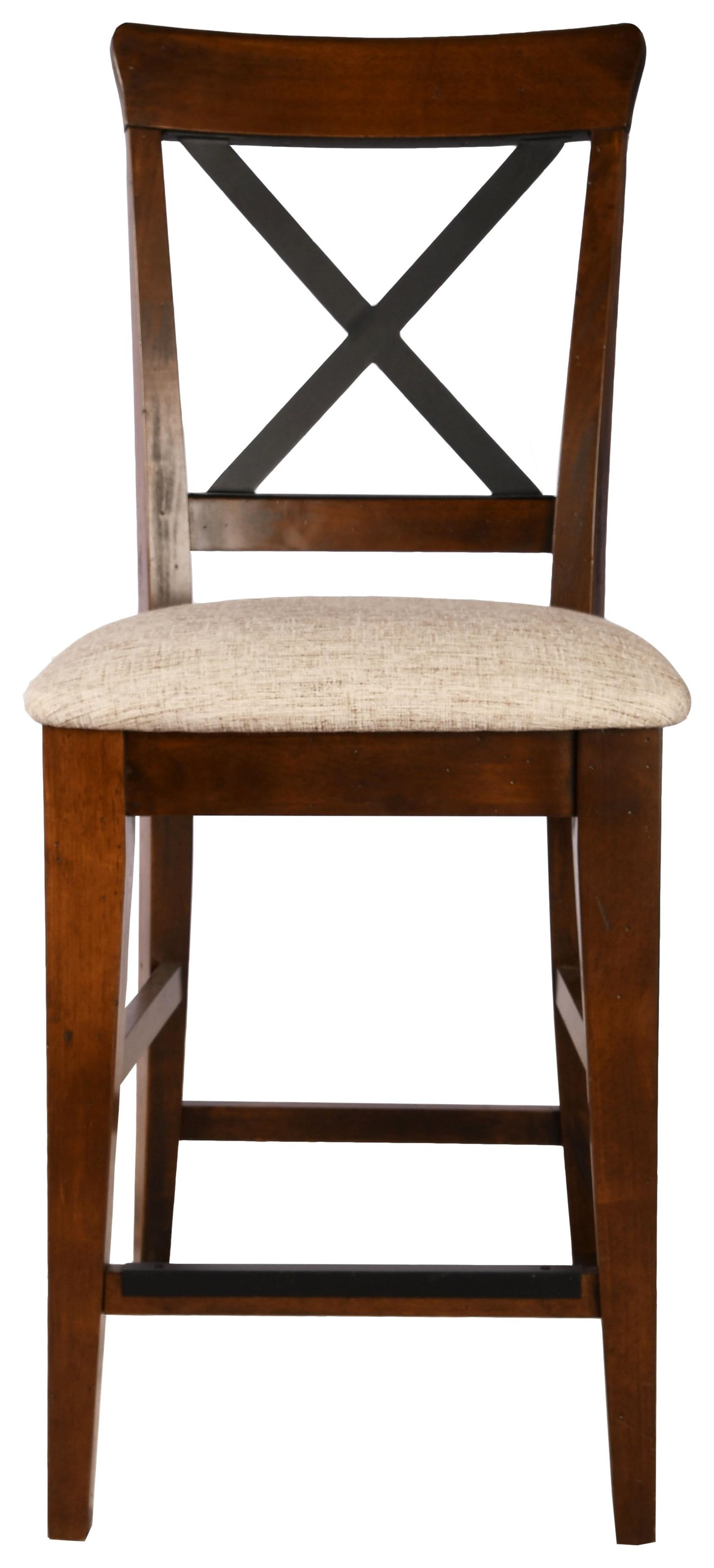 East Side Customizable X-Back Stool by Canadel at Bennett's Furniture and Mattresses