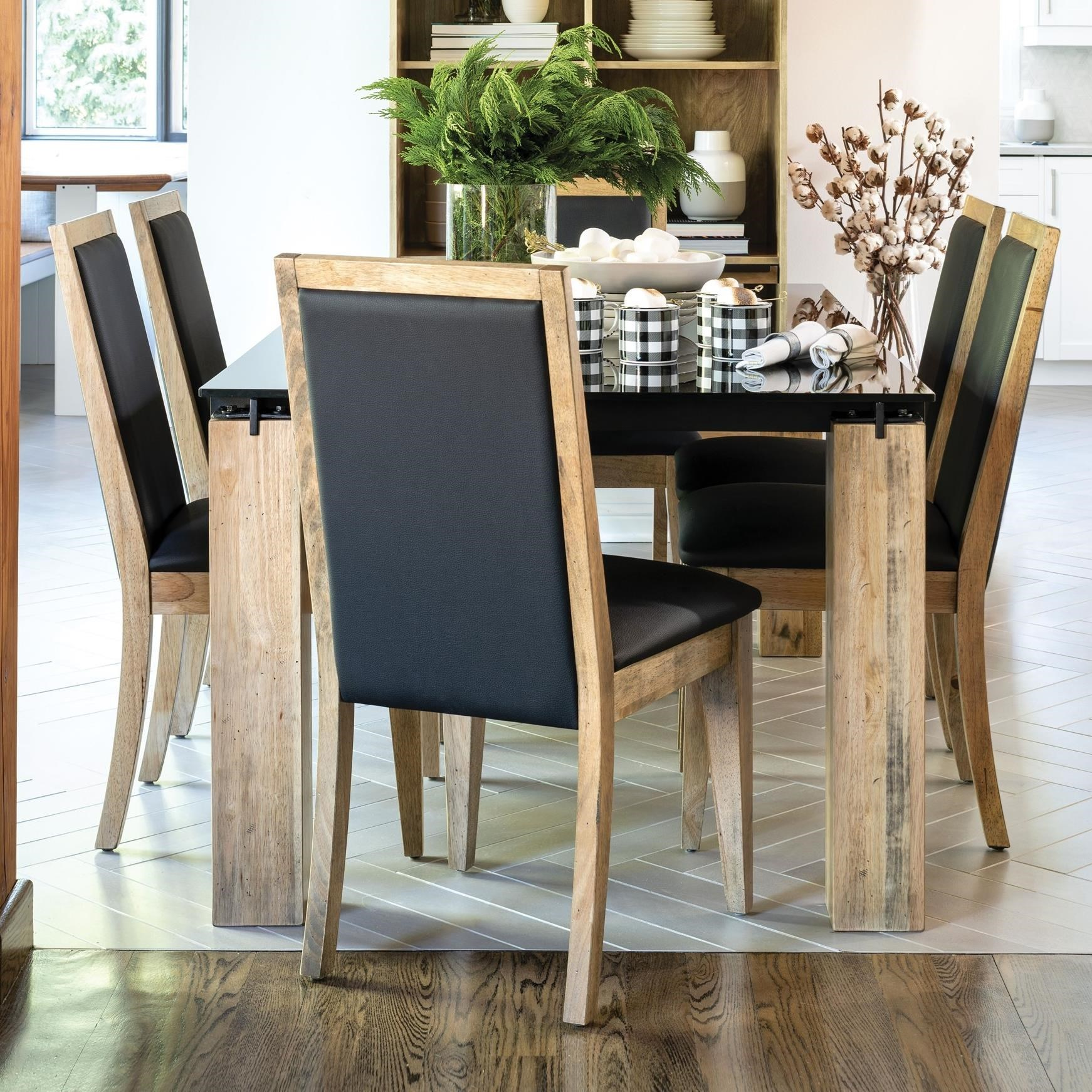 East Side Customizable Glass Top Dining Table Set by Canadel at Dinette Depot