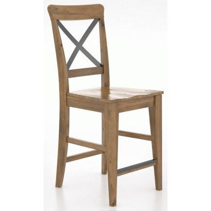 East Side Customizable X-Back Stool by Canadel at Dinette Depot