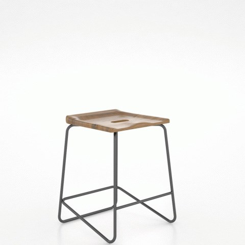 East Side Customizable Wood/Metal Saddle Stool by Canadel at Steger's Furniture