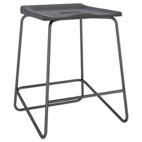 East Side Customizable Upholstered Metal Saddle Stool by Canadel at Dinette Depot