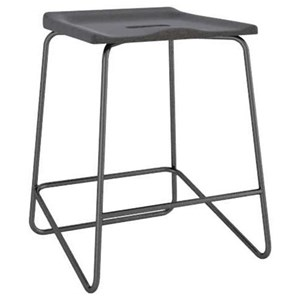 Customizable Upholstered Metal Saddle Stool
