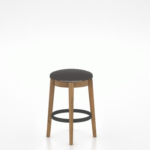 East Side Customizable Backless Swivel Stool by Canadel at Dinette Depot