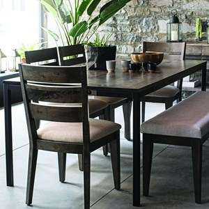 Customizable Dining Table With Metal Legs