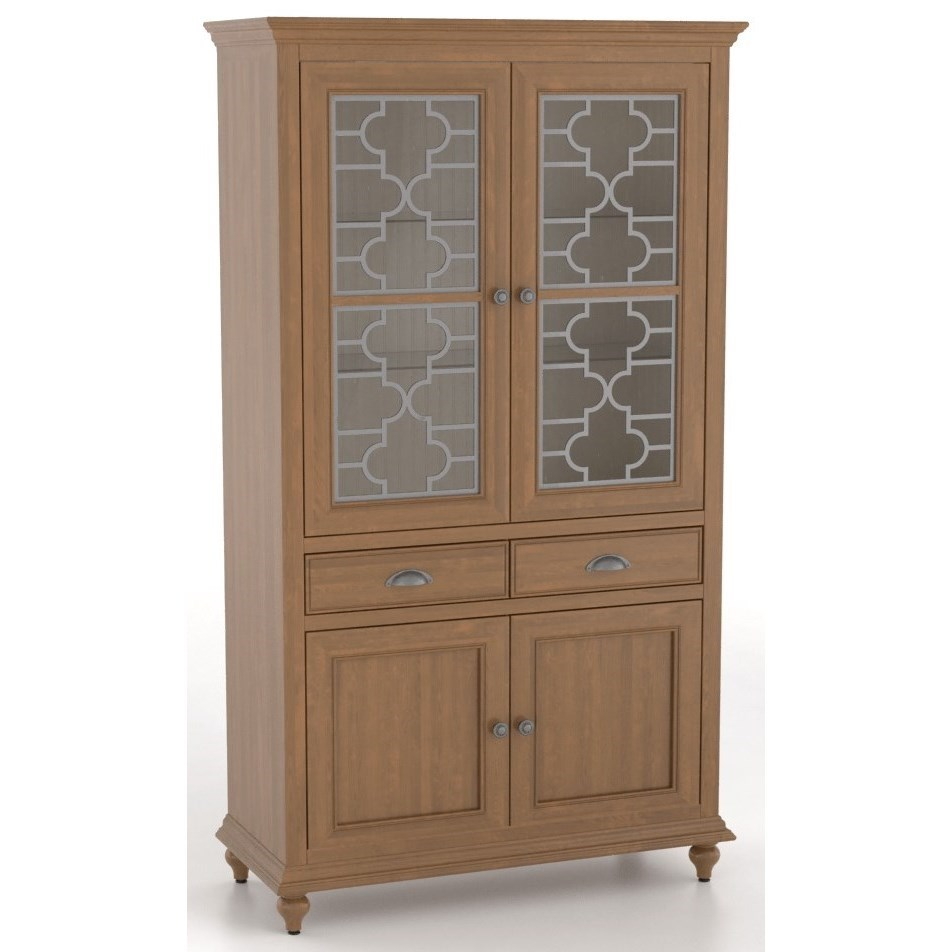 Farmhouse Customizable Buffet/Display Cabinet by Canadel at Dinette Depot