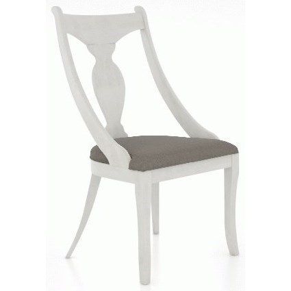 Farmhouse Customizable Chair with Upholstered Seat by Canadel at Dinette Depot