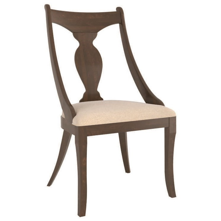 Farmhouse Customizable Chair with Upholstered Seat by Canadel at Jordan's Home Furnishings