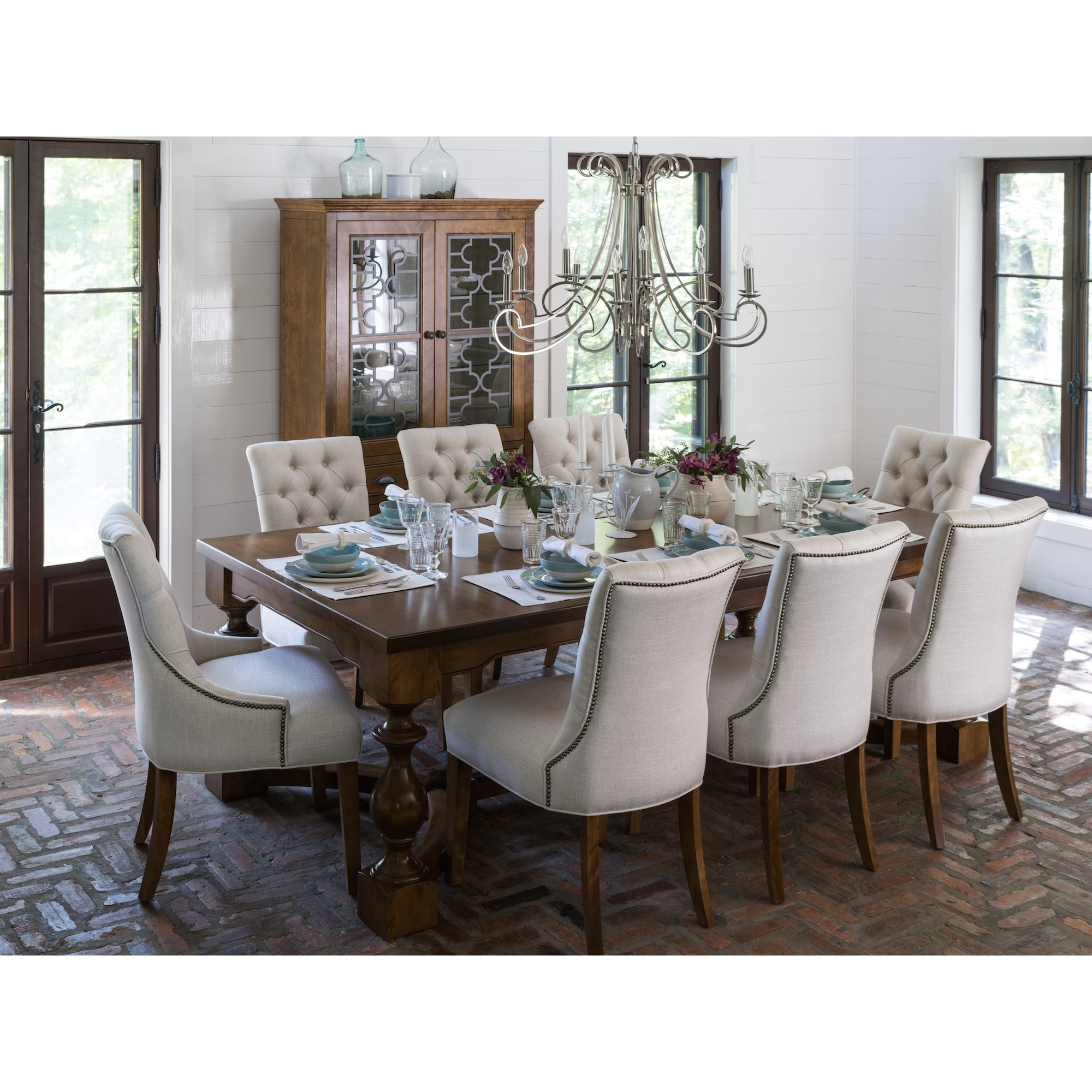 Farmhouse Dining Room Group by Canadel at Jordan's Home Furnishings