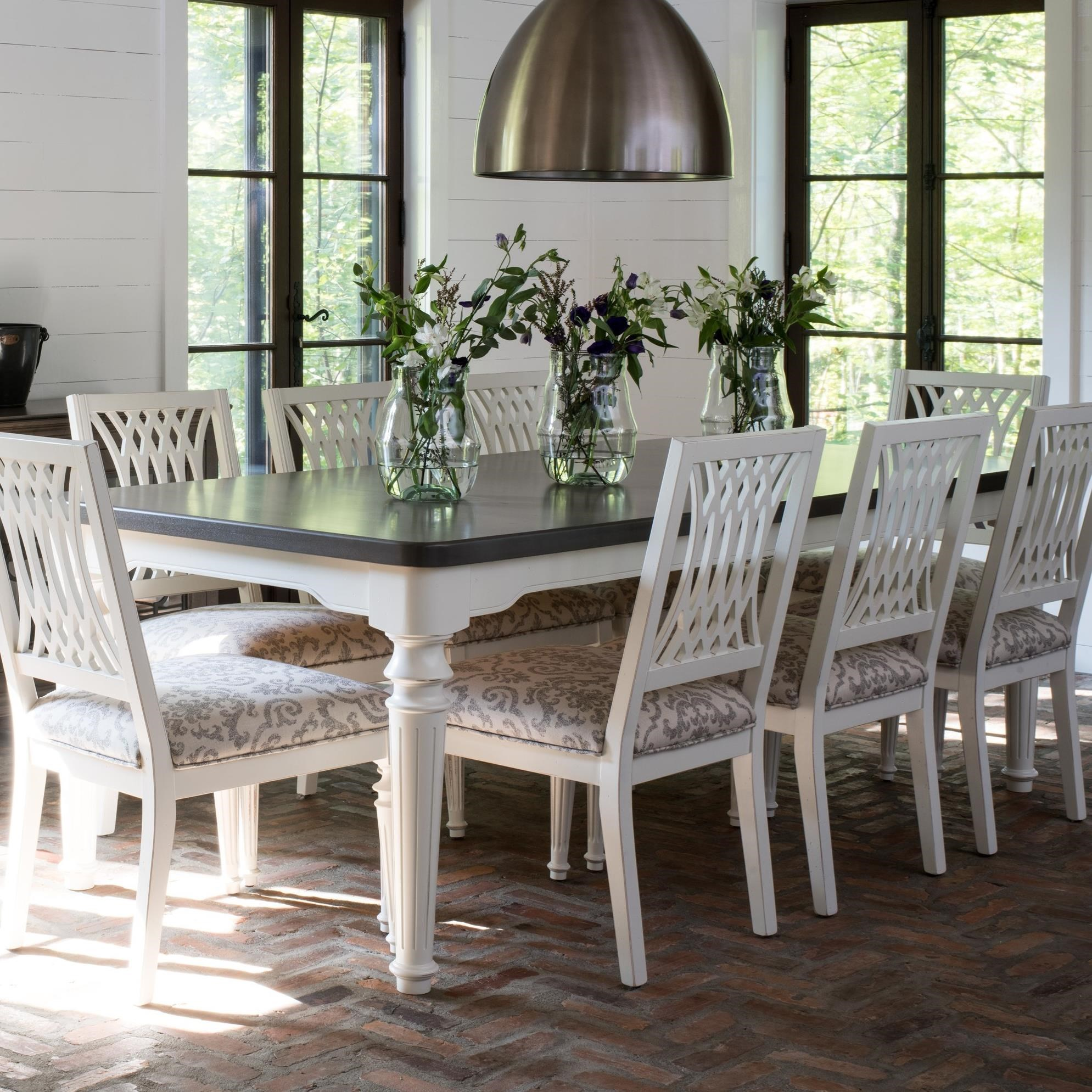 Farmhouse Customizable Rectangular Dining Table by Canadel at Saugerties Furniture Mart