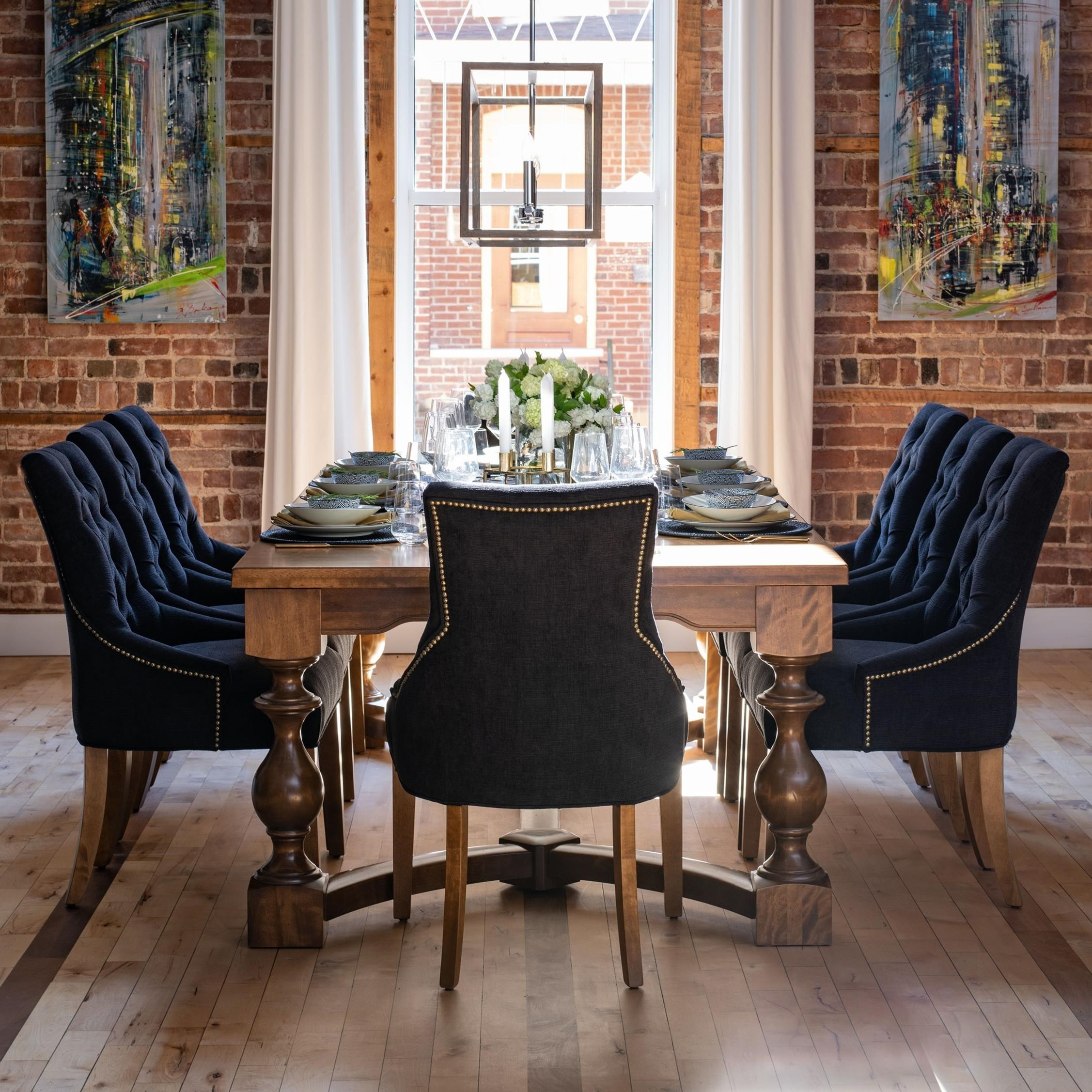 Farmhouse Customizable Dining Table Set by Canadel at Saugerties Furniture Mart