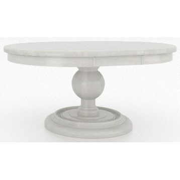 Farmhouse Customizable Round Dining Table with Leaf by Canadel at Dinette Depot