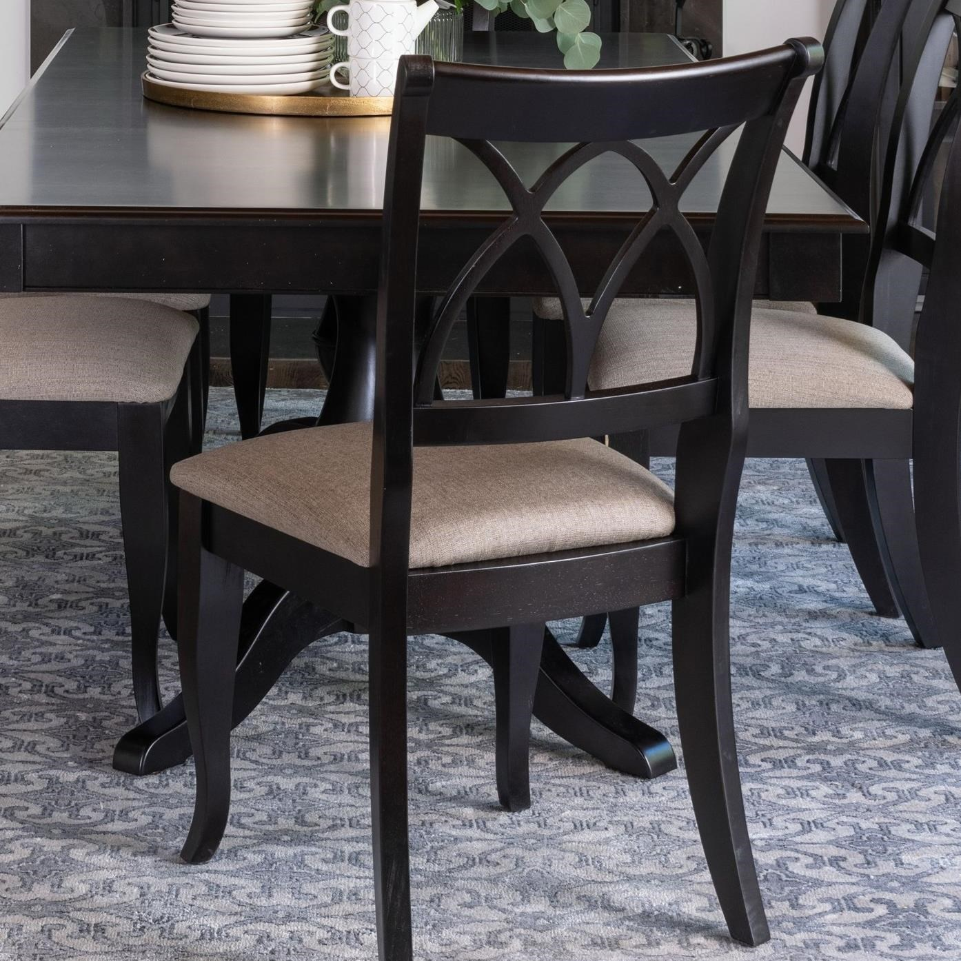 Gourmet - Custom Dining Customizable Dining Side Chair by Canadel at Jordan's Home Furnishings