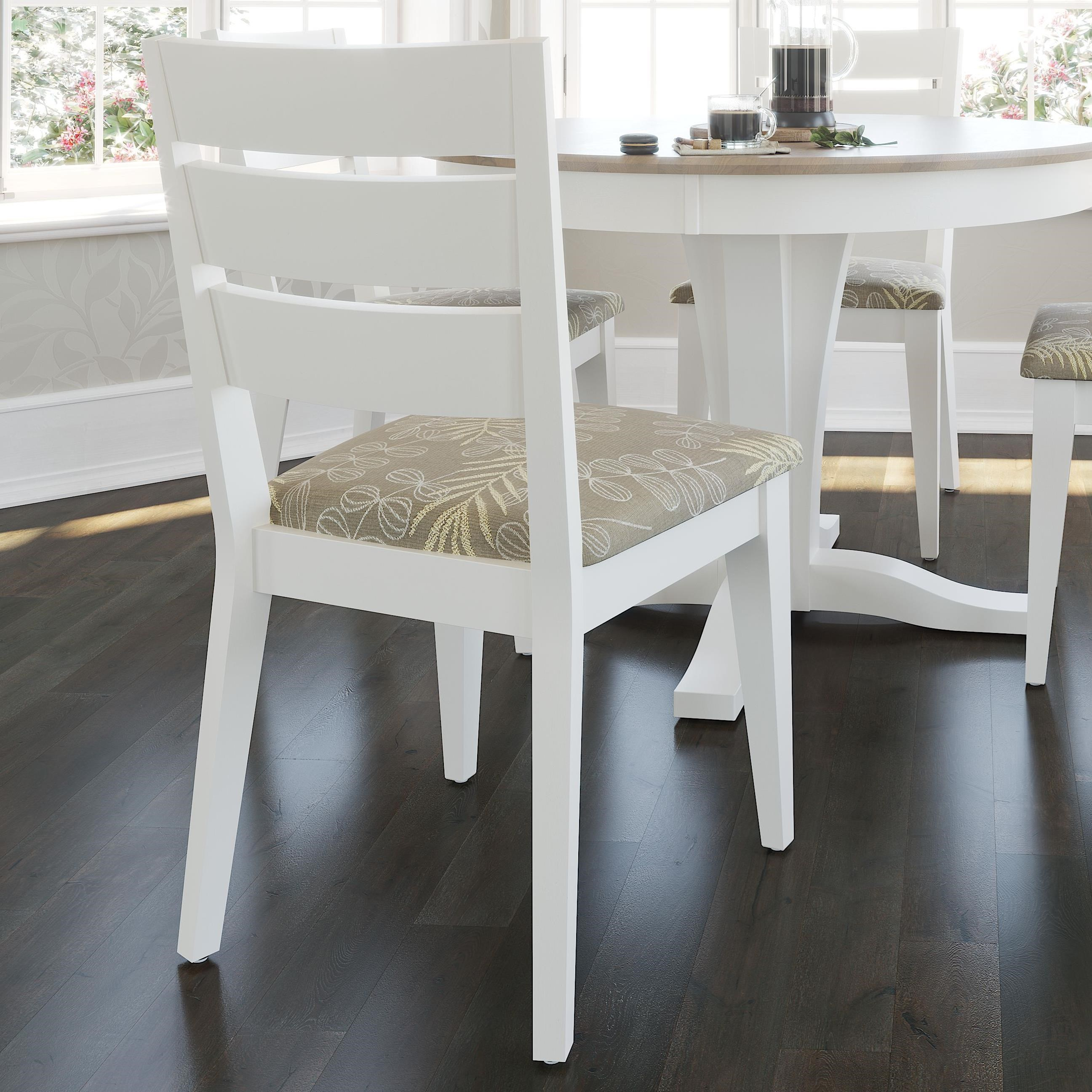 Gourmet - Custom Dining Customizable Chair with Ladder Back by Canadel at Dinette Depot
