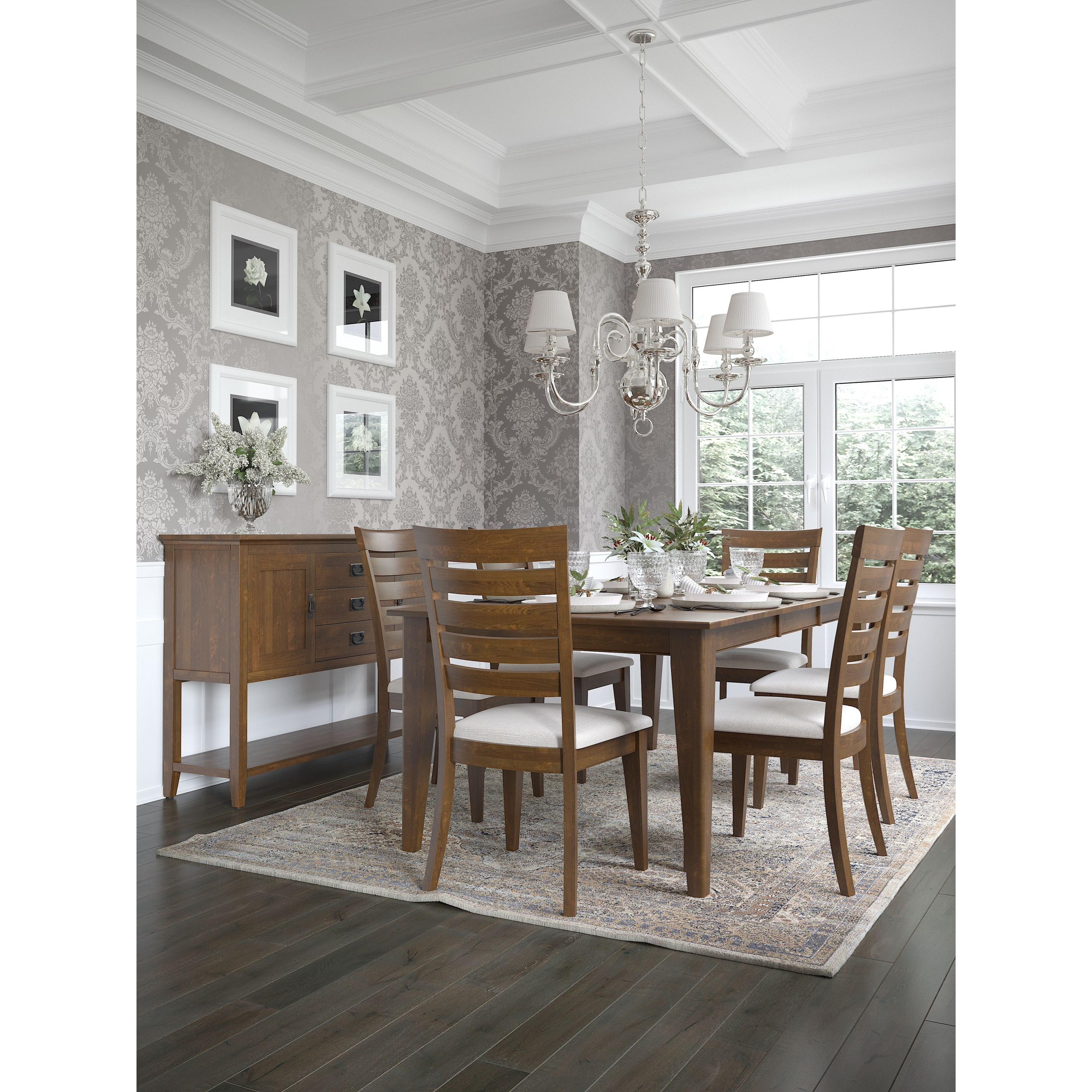 Gourmet - Custom Dining Dining Table Set by Canadel at Dinette Depot