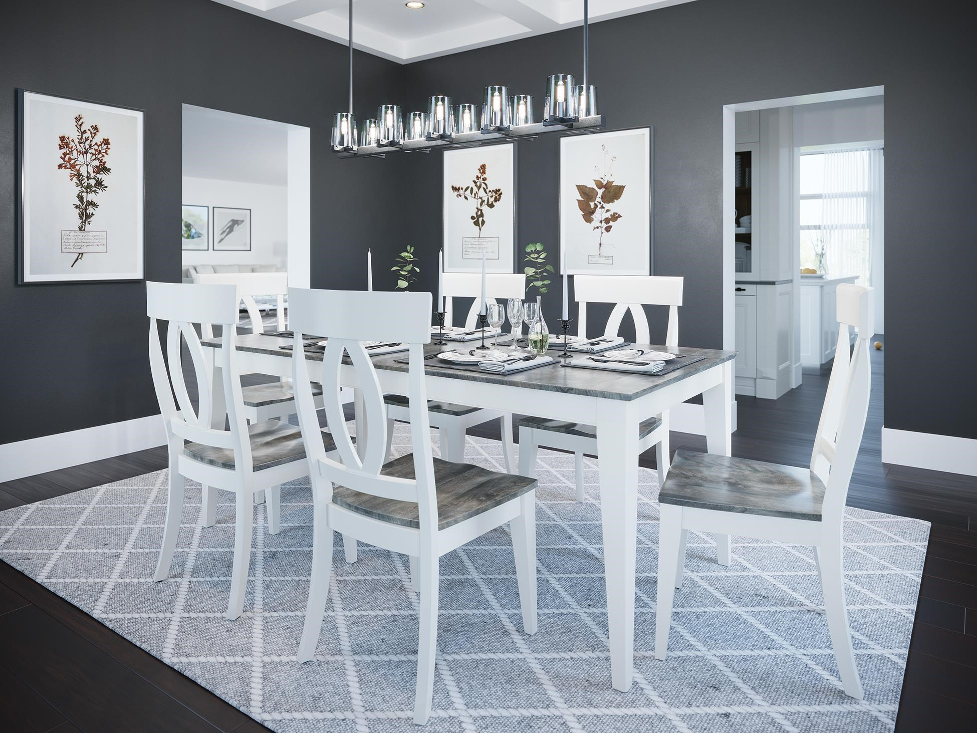 Gourmet - Custom Dining 5 Piece Dining Set by Canadel at Darvin Furniture