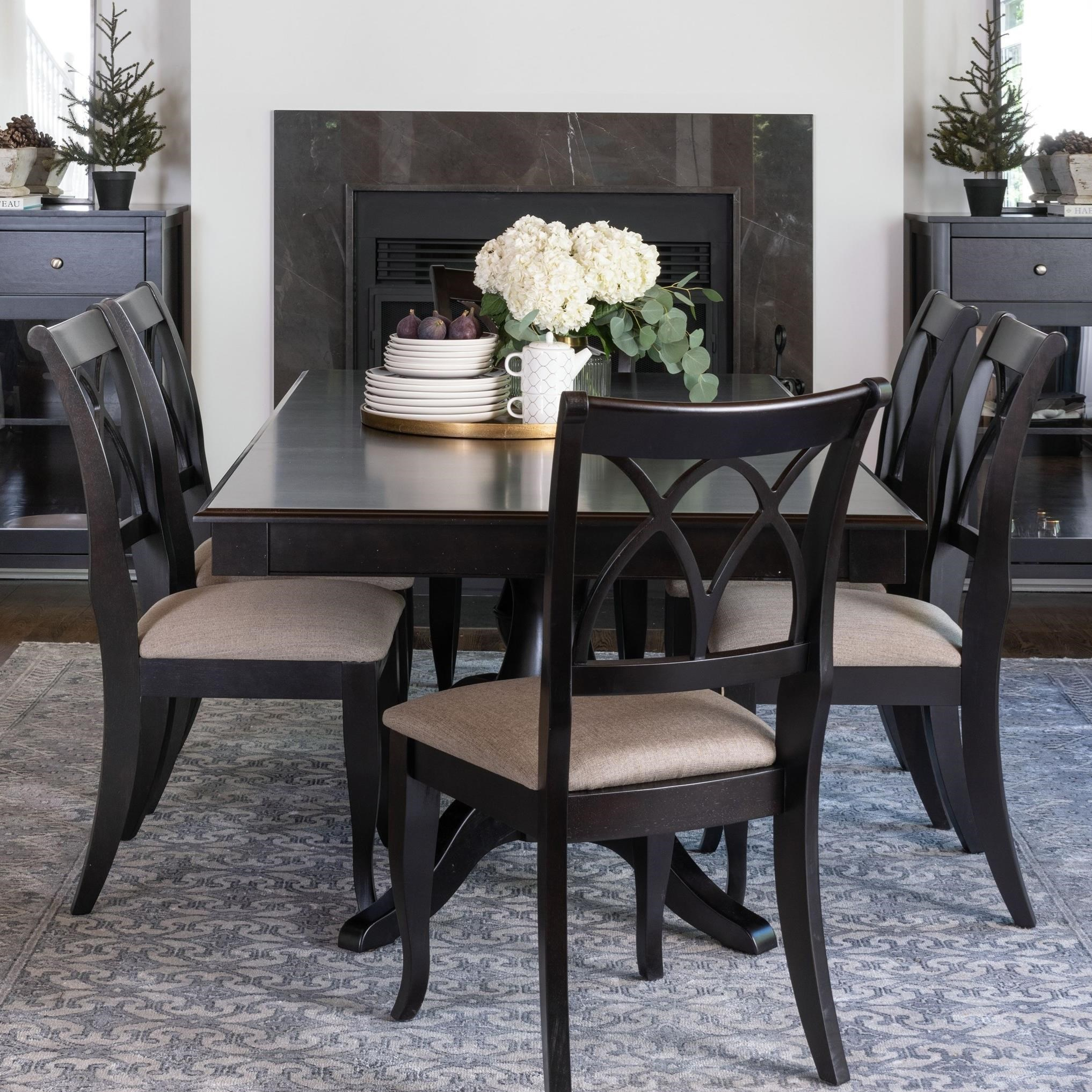 Gourmet - Custom Dining Customizable Rectangular Table Set by Canadel at Dinette Depot