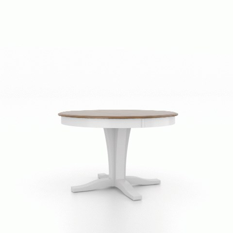 Gourmet - Custom Dining Customizable Round Table with Pedestal by Canadel at Jordan's Home Furnishings