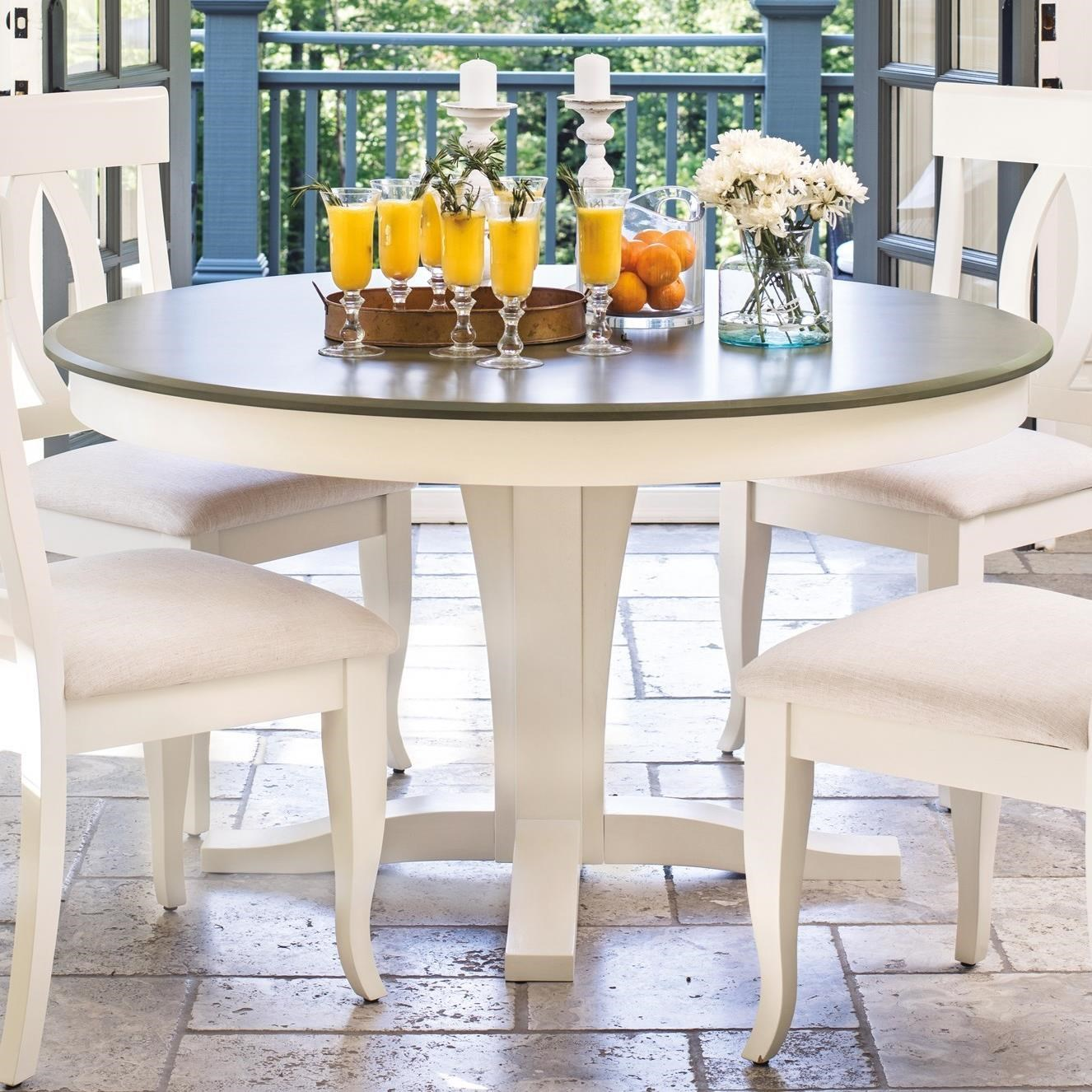 Gourmet - Custom Dining Customizable Round Table by Canadel at Dinette Depot