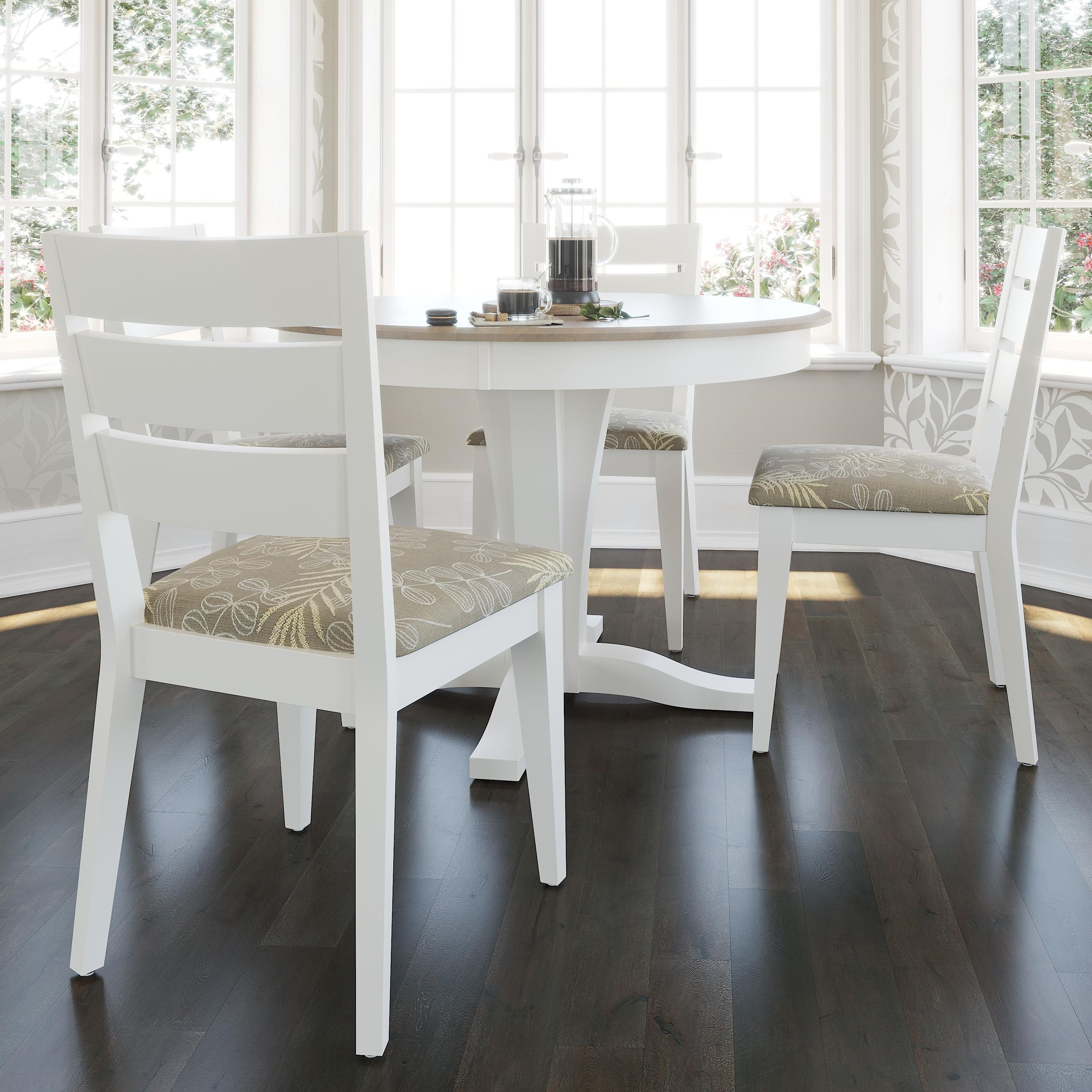 Gourmet - Custom Dining Customizable Round Table Set by Canadel at Dinette Depot