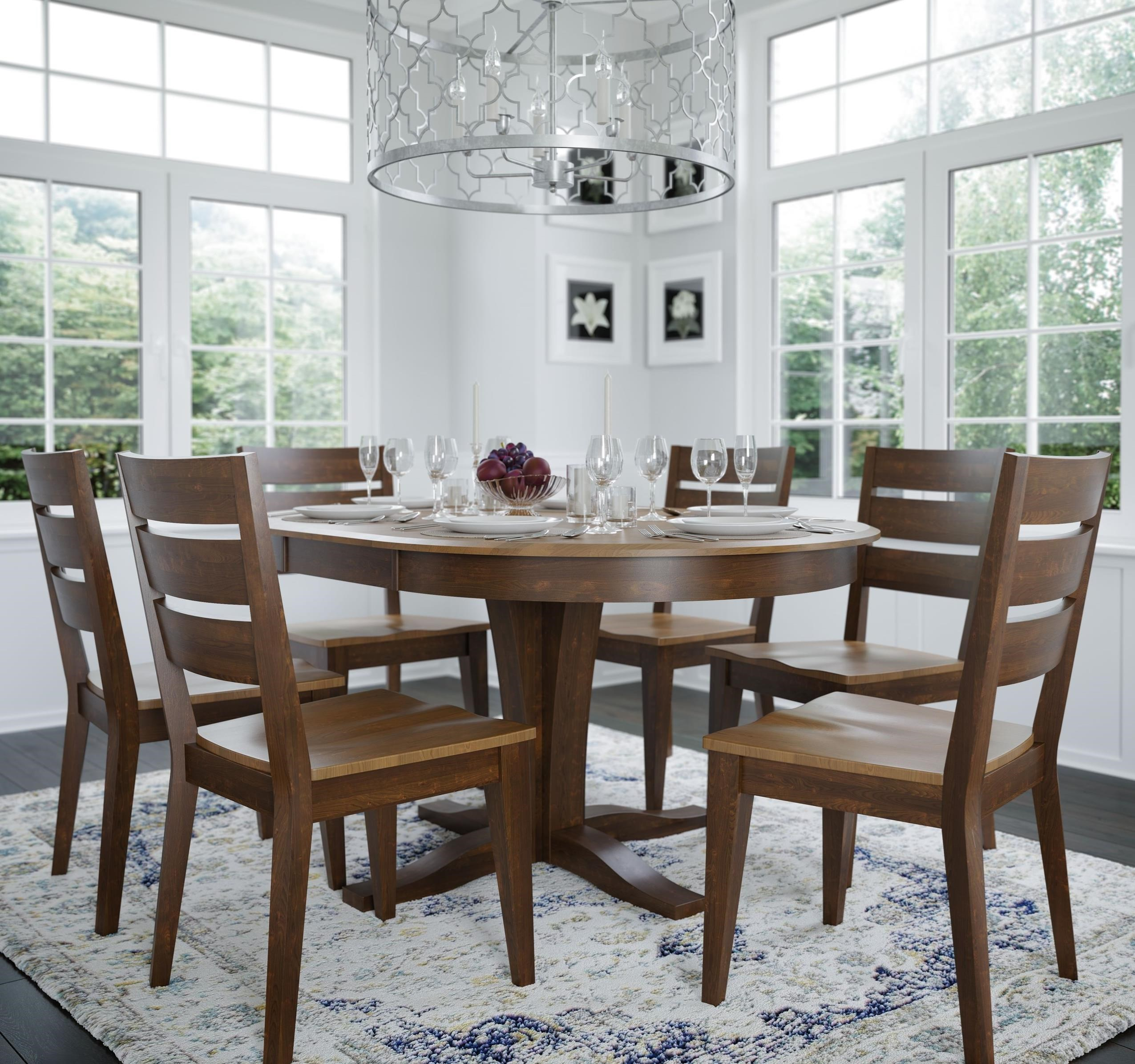 Gourmet - Custom Dining Customizable Round/Oval Table Set by Canadel at Dinette Depot