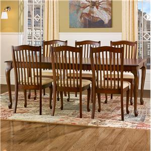 Customizable Rectangular Leg Table Set with Leaf