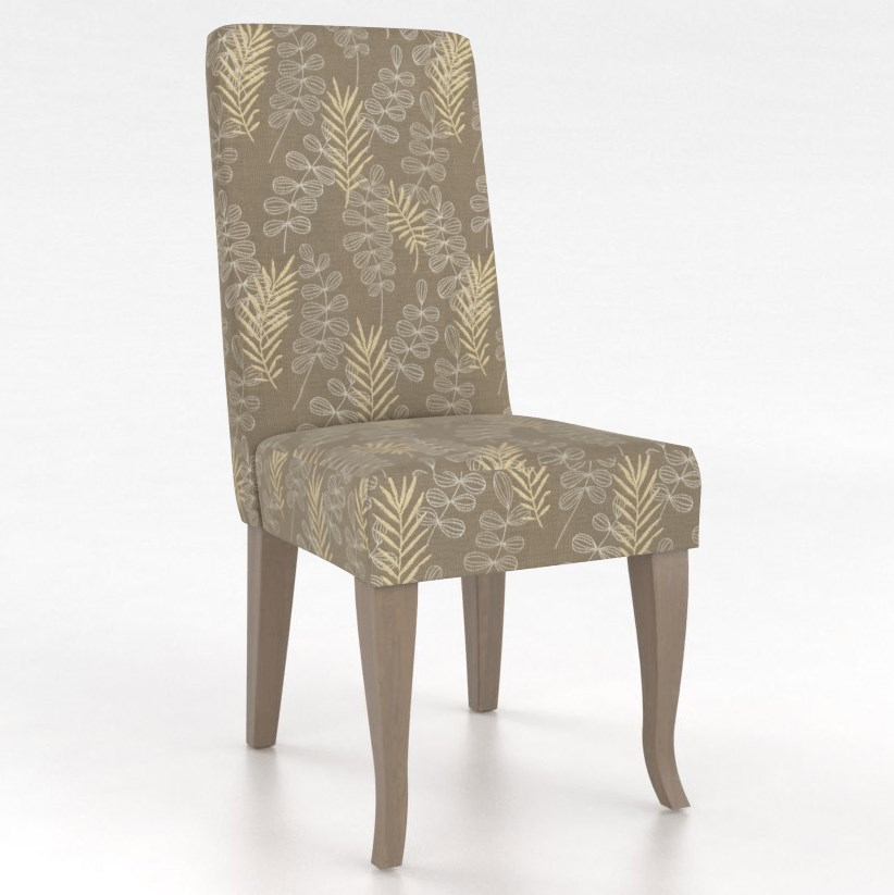 Gourmet Customizable Petite Upholstered Side Chair by Canadel at Jordan's Home Furnishings