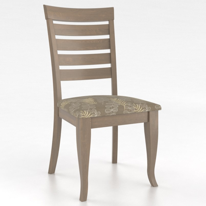 Gourmet Customizable Petite Ladder Back Side Chair by Canadel at Dinette Depot