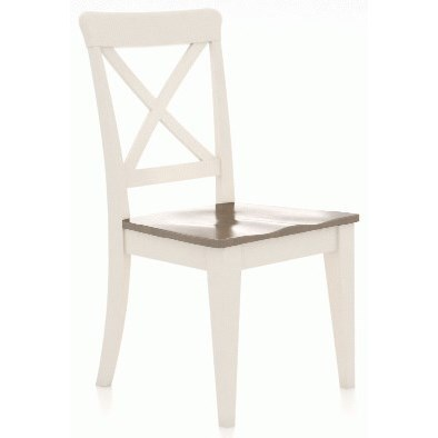 Gourmet Customizable Petite X-Back Side Chair by Canadel at Dinette Depot