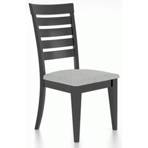 Customizable Slat Back Dining Side Chair