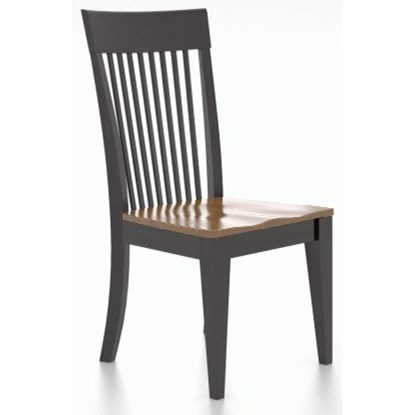 Gourmet Customizable Dining Side Chair by Canadel at Jordan's Home Furnishings
