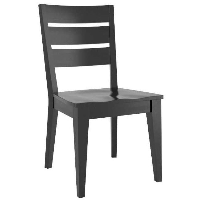 Gourmet Customizable Ladder Back Side Chair by Canadel at Dinette Depot