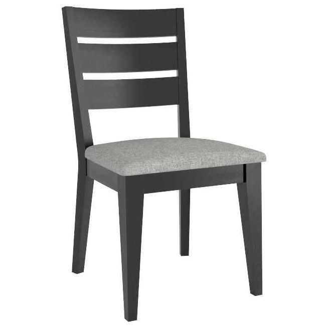 Gourmet Customizable Ladder Back Side Chair by Canadel at Steger's Furniture