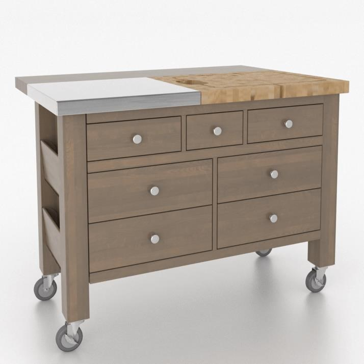 Gourmet <b>Customizable</b> Kitchen Island by Canadel at Steger's Furniture