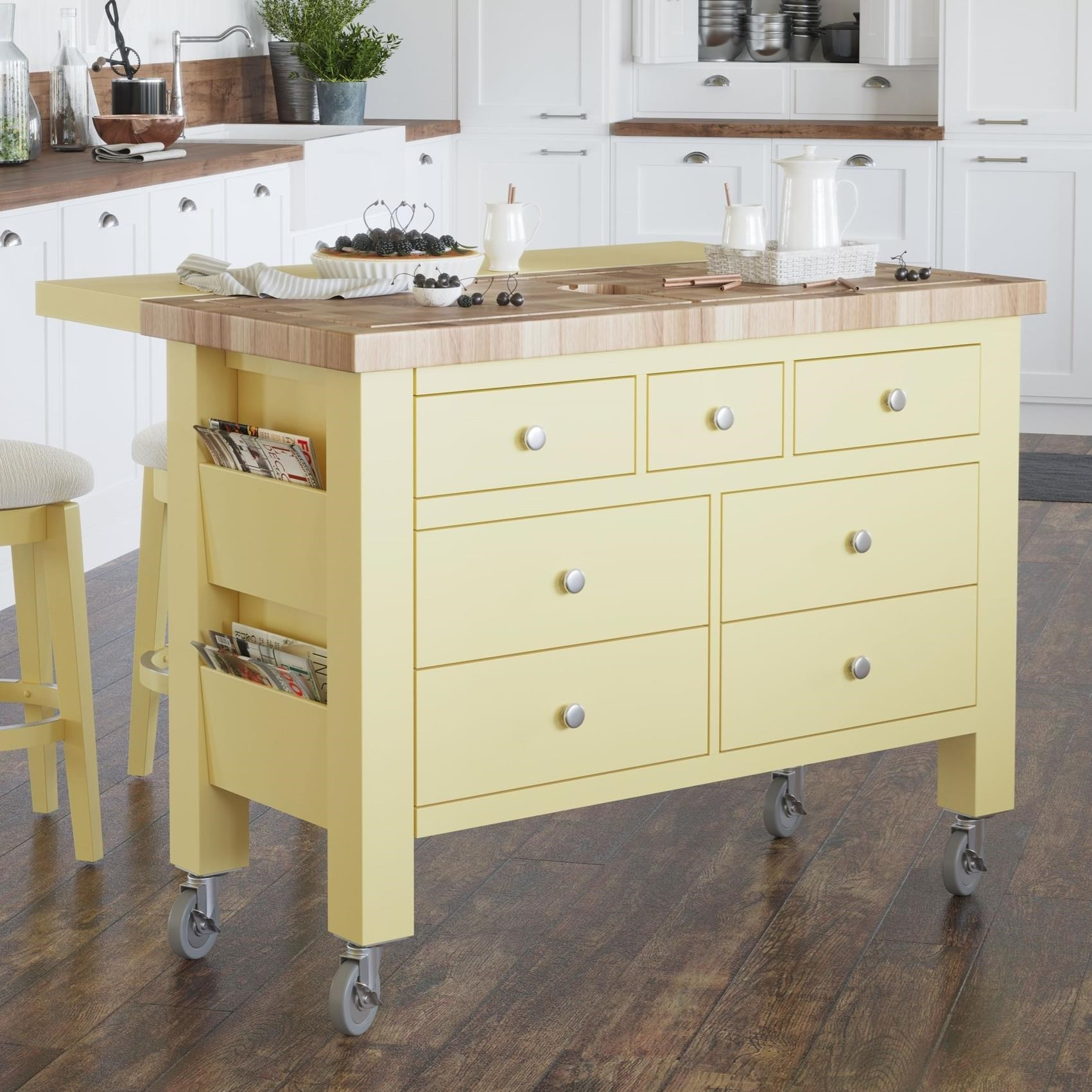 Gourmet Customizable Kitchen Island by Canadel at Dinette Depot